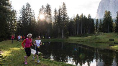 jogging e running in Val Gardena estate