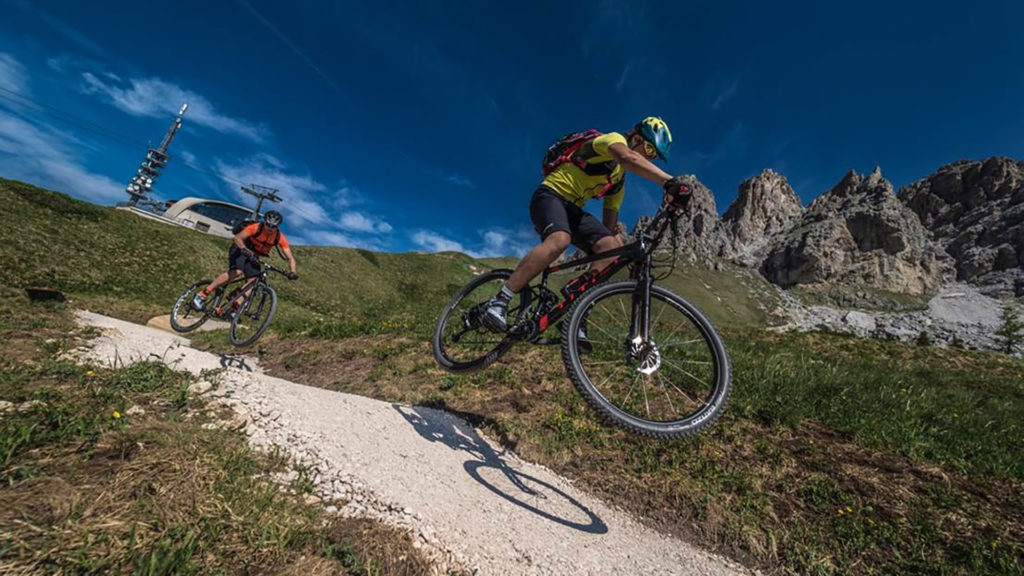 Flow Trail downhill Cir Val Gardena mountainbike summer