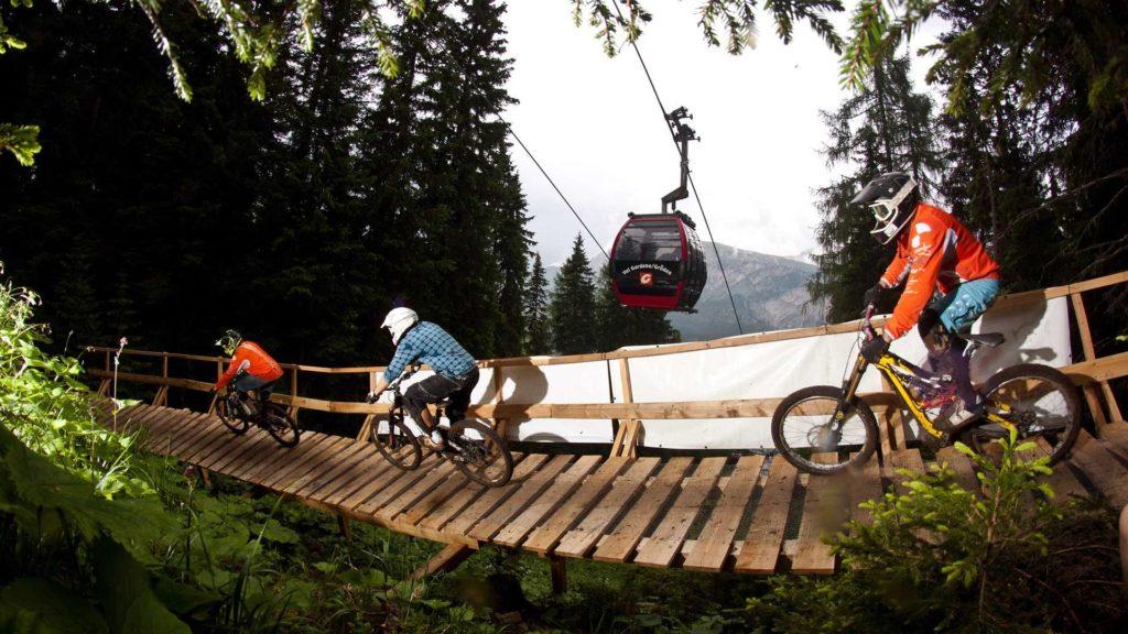 Freeride Ciampinoi percorso Val Gardena per mountain-bike esperti Dolomiti