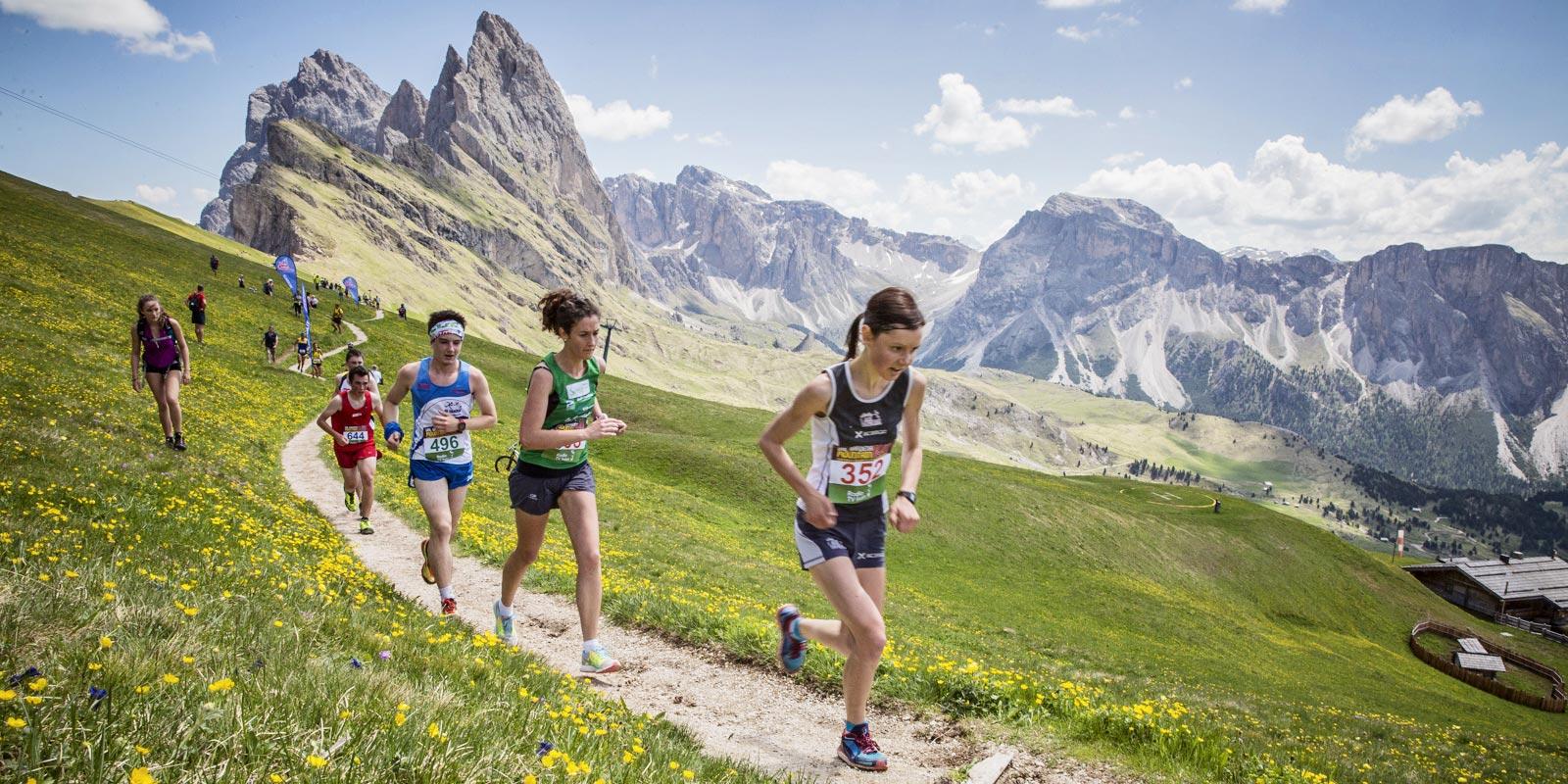 corsa e running in Val Gardena